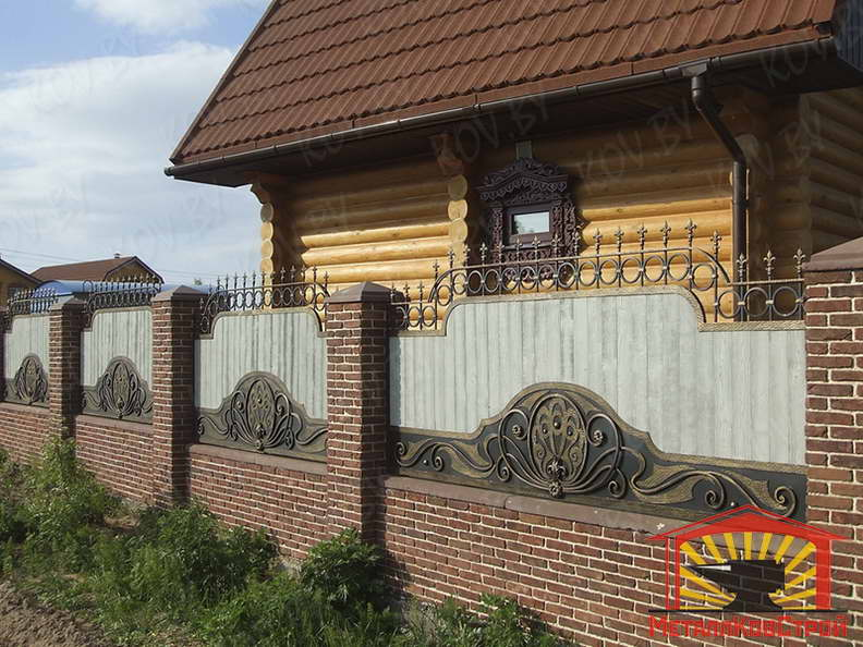 Забор кованый №033