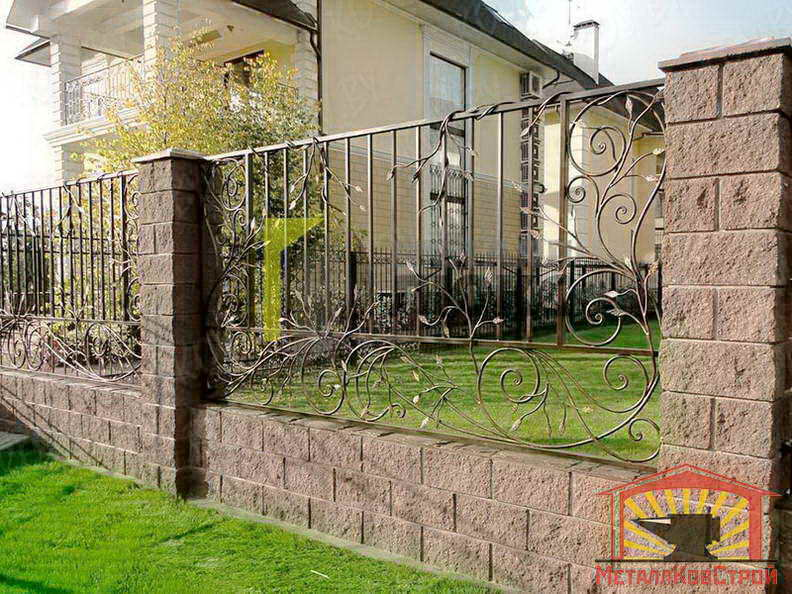 Забор кованый №056