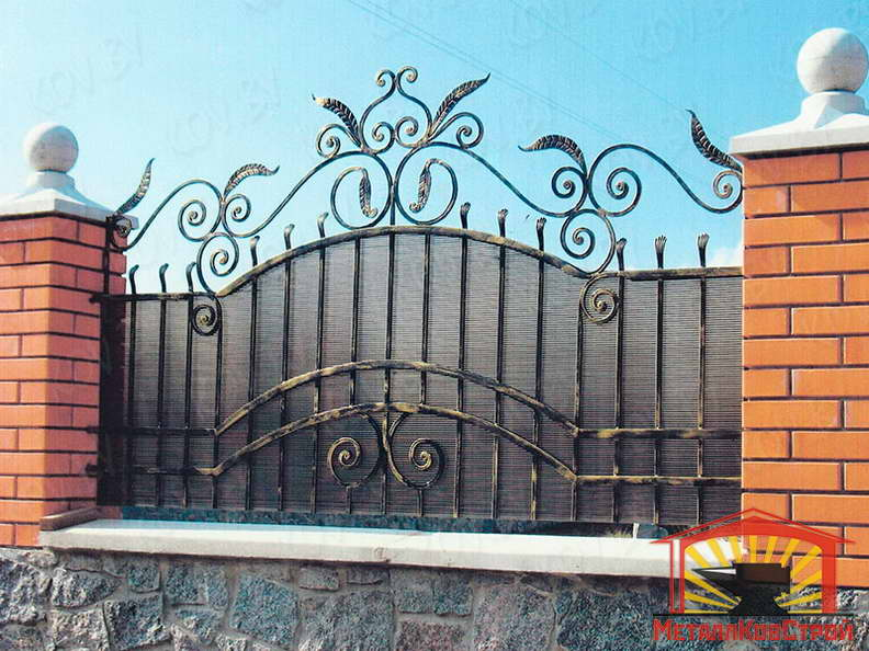 Забор кованый №040