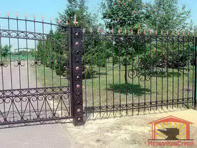 Забор кованый №031