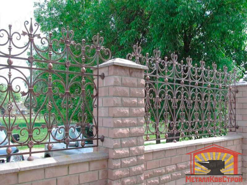 Забор кованый №046