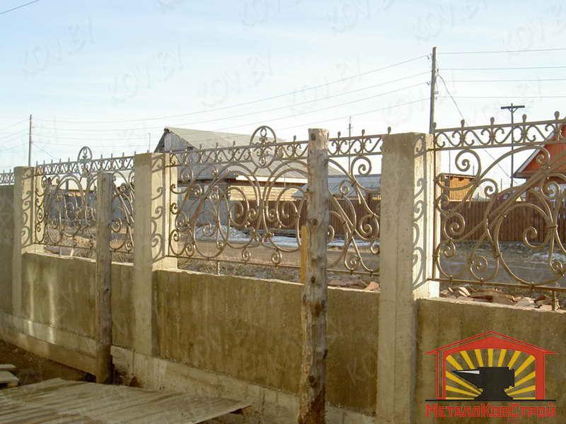 Забор кованый №006
