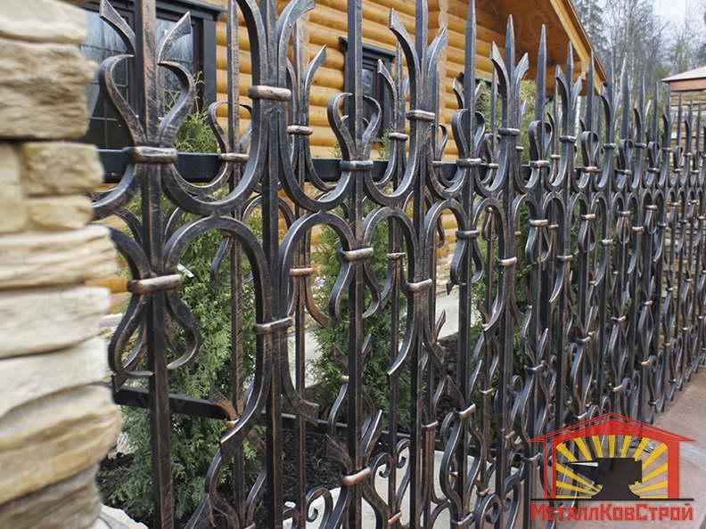 Забор кованый №005