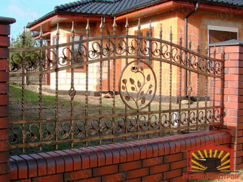 Забор кованый №042