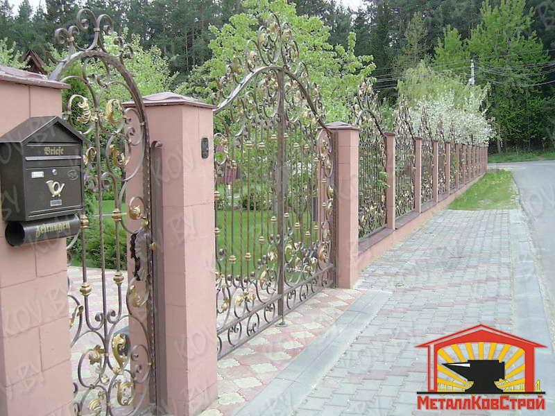 Забор кованый №018