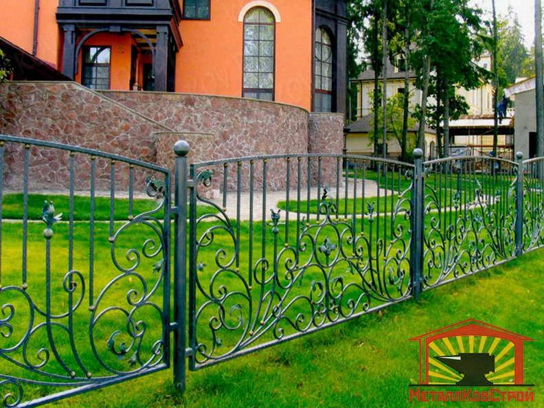 Забор кованый №058