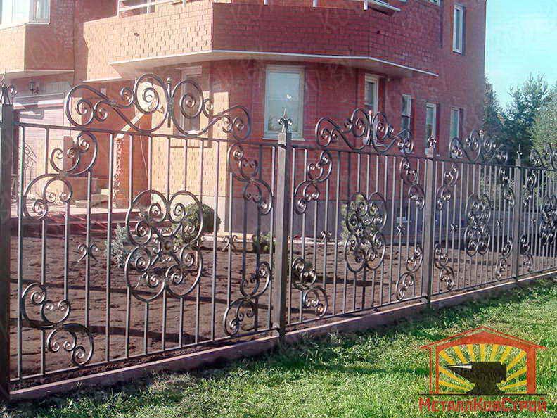 Забор кованый №057
