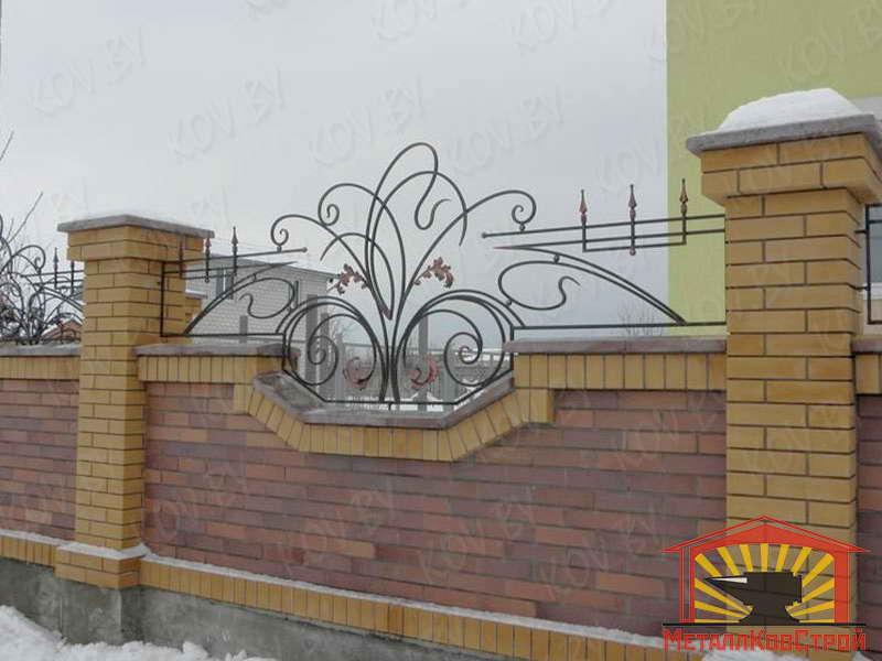 Забор кованый №035